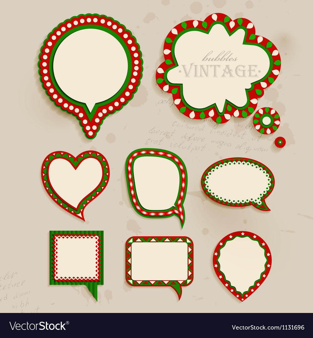 Christmas vintage bubbles vector | Price: 1 Credit (USD $1)