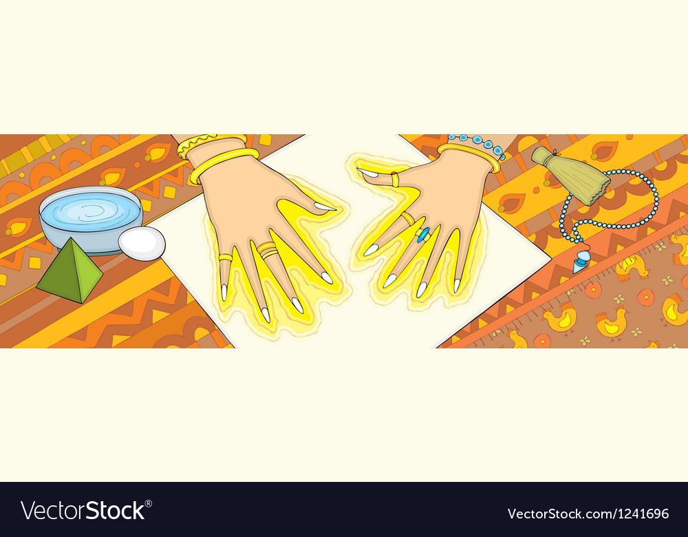 Extrasensory individual hand vector | Price: 1 Credit (USD $1)
