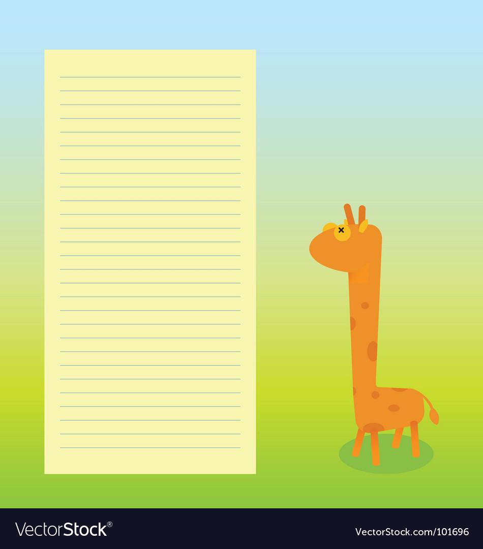 Giraffe sheet template vector | Price: 1 Credit (USD $1)