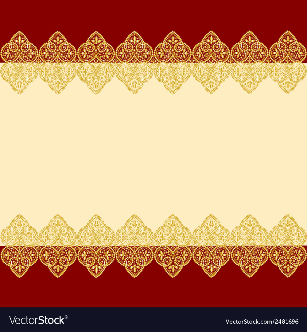 Gold lace vector | Price: 1 Credit (USD $1)