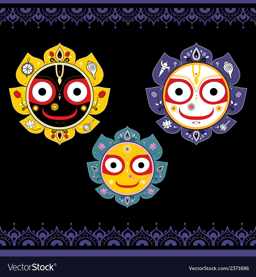 Jagannath indian god of the universe vector | Price: 1 Credit (USD $1)