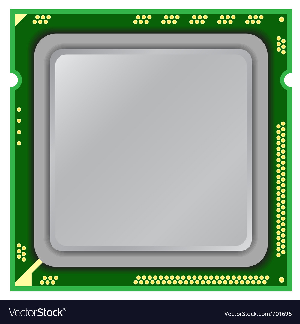 Modern computer processor vector | Price: 1 Credit (USD $1)