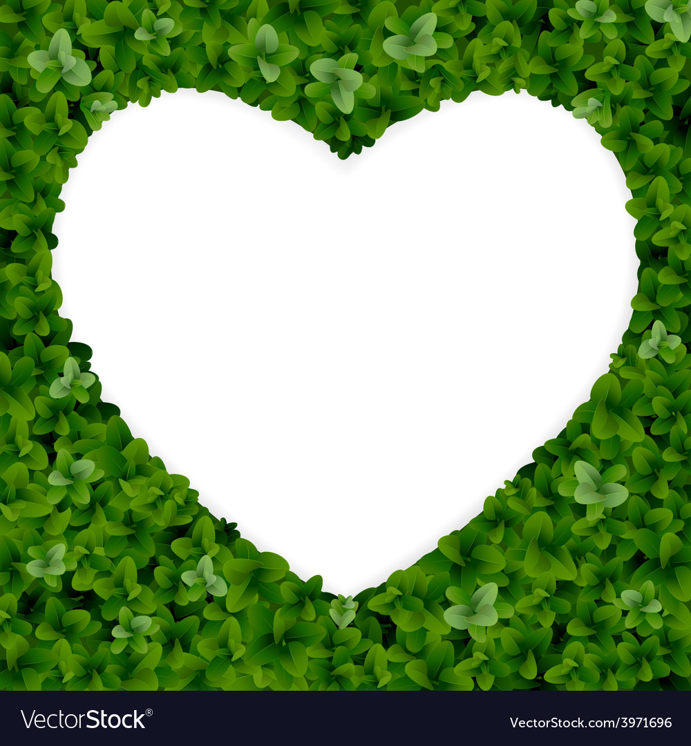 Nature background with heart vector | Price: 3 Credit (USD $3)