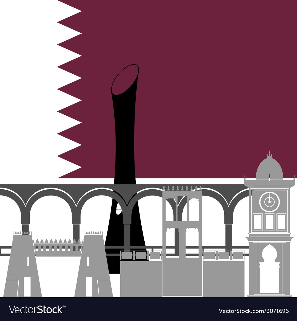 Qatar vector | Price: 1 Credit (USD $1)