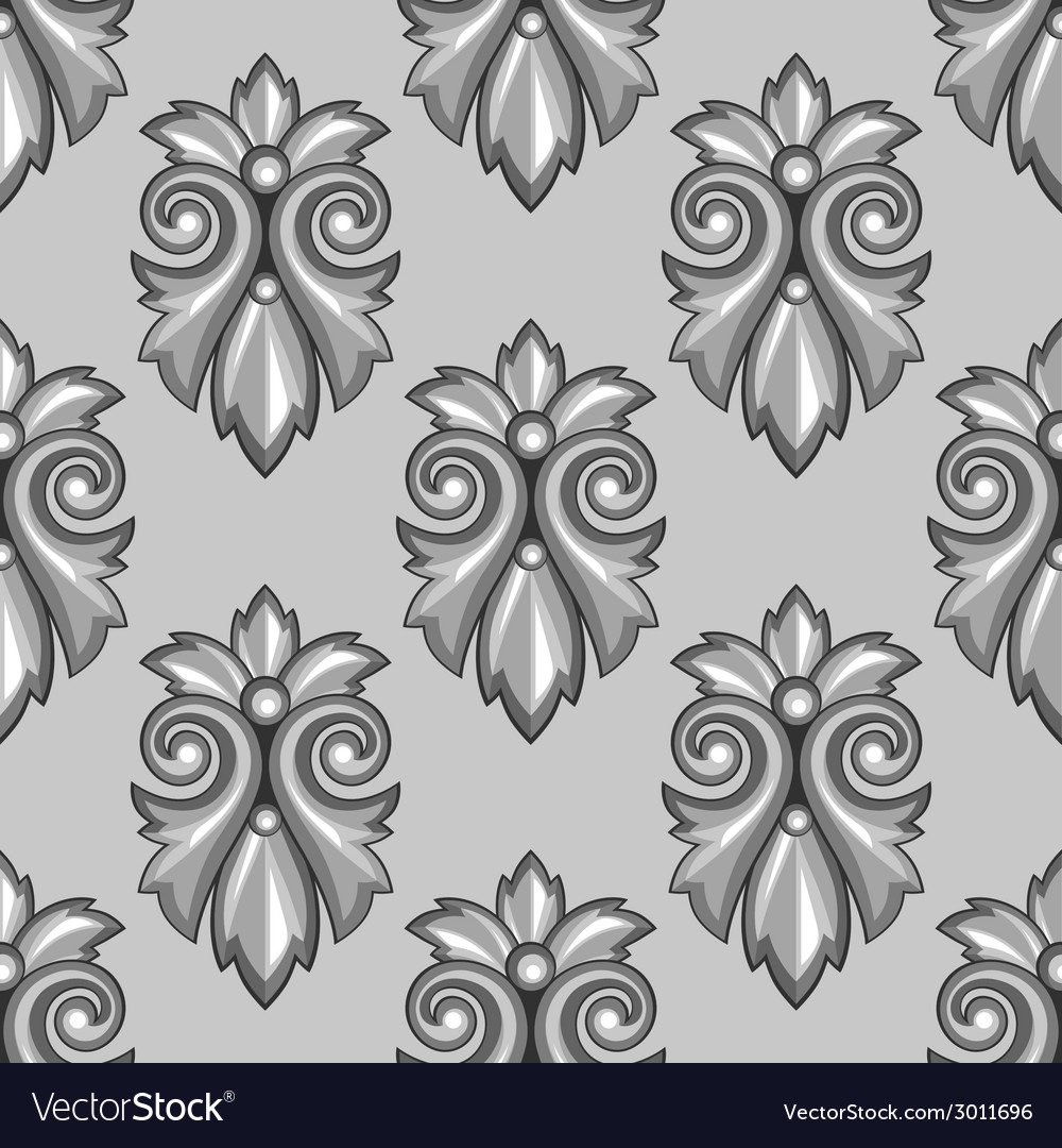 Seamless pattern with baroque ornamental floral vector | Price: 1 Credit (USD $1)