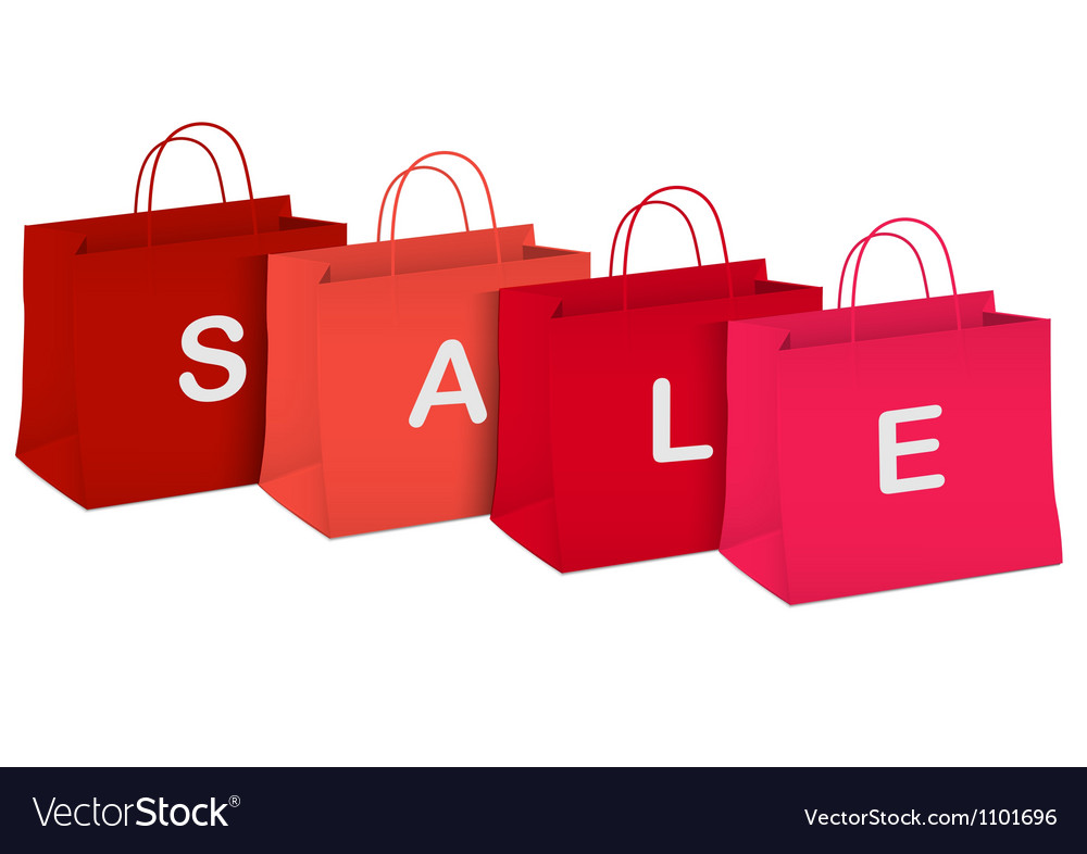 Seasonal sale shopping bags vector | Price: 1 Credit (USD $1)