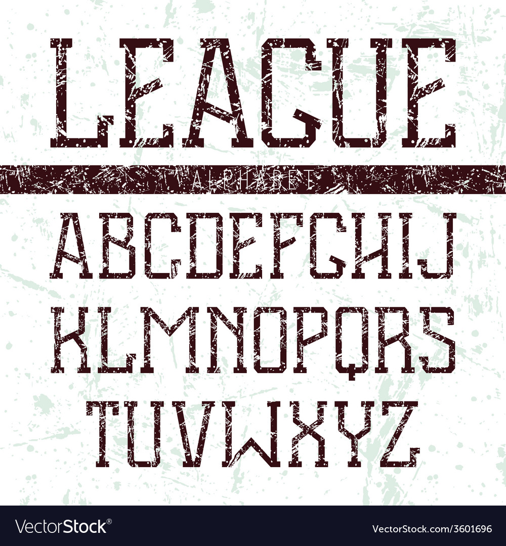Serif font medium in the style of college vector | Price: 1 Credit (USD $1)
