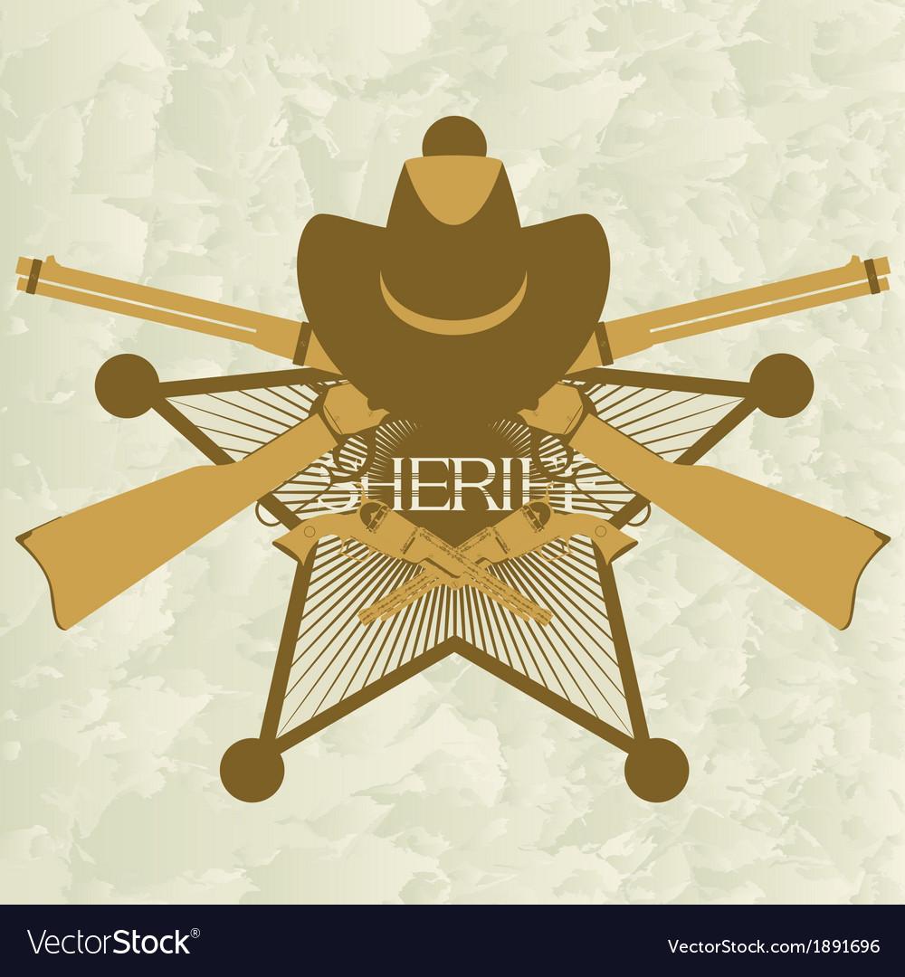 Sheriffs badge-3 vector | Price: 1 Credit (USD $1)