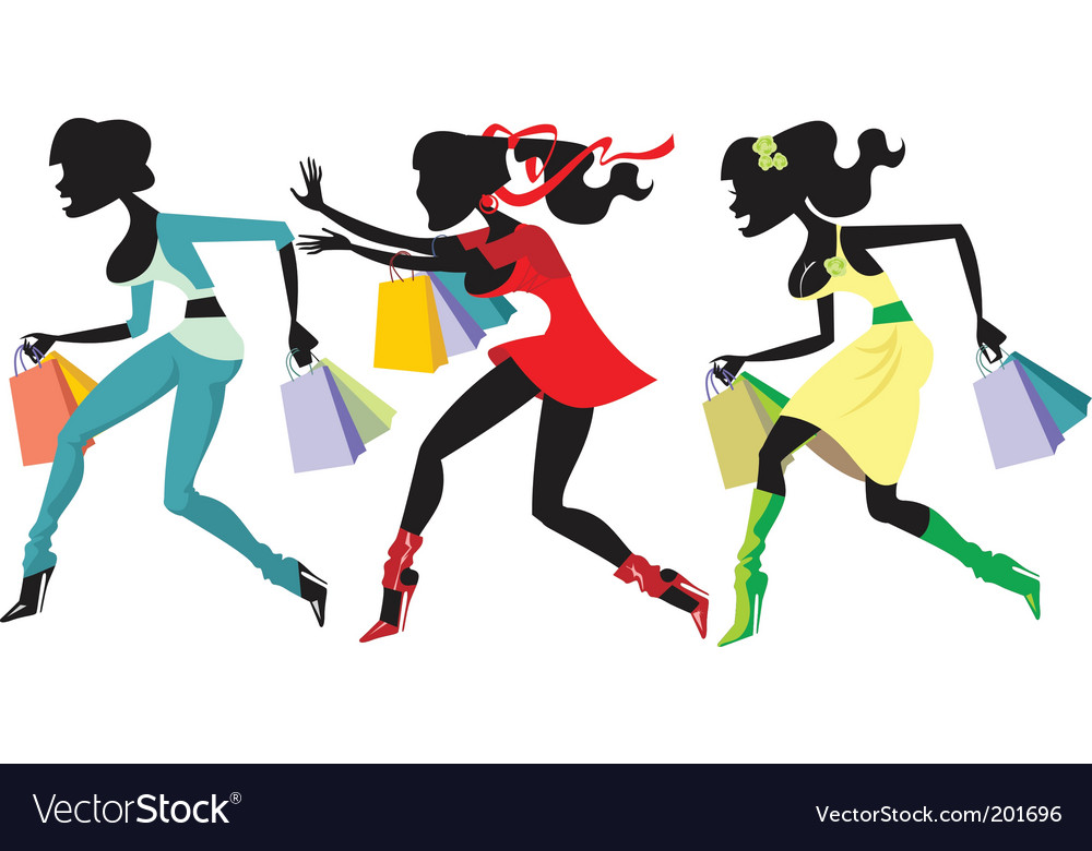Shopping marathon vector | Price: 3 Credit (USD $3)