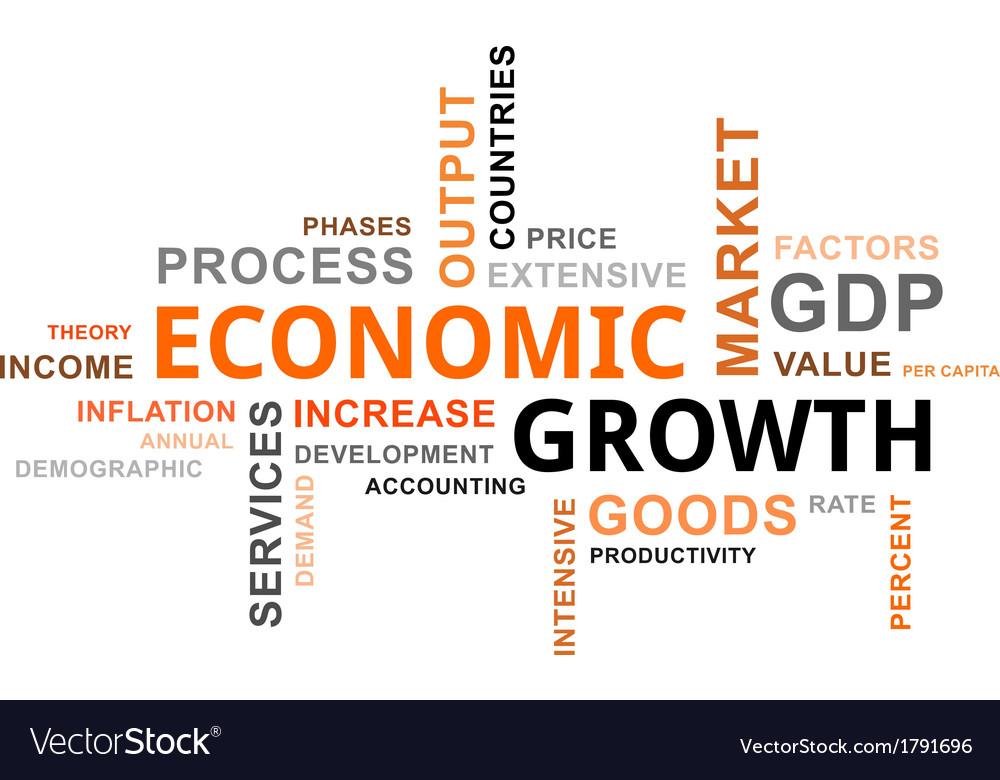 Word cloud economic growth vector | Price: 1 Credit (USD $1)