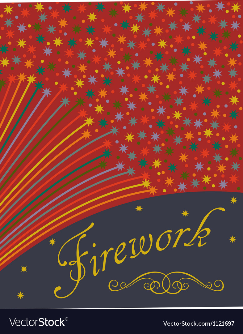 Abstract festive fireworks background vector | Price: 1 Credit (USD $1)