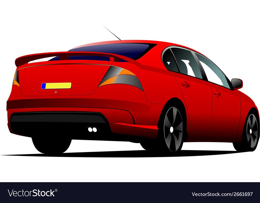 Al 0519 rear car vector   Price: 1 Credit (USD $1)