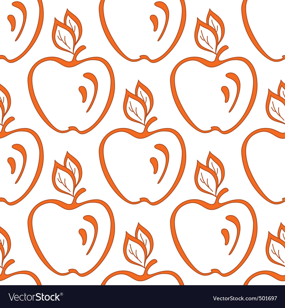 Background apples vector | Price: 1 Credit (USD $1)