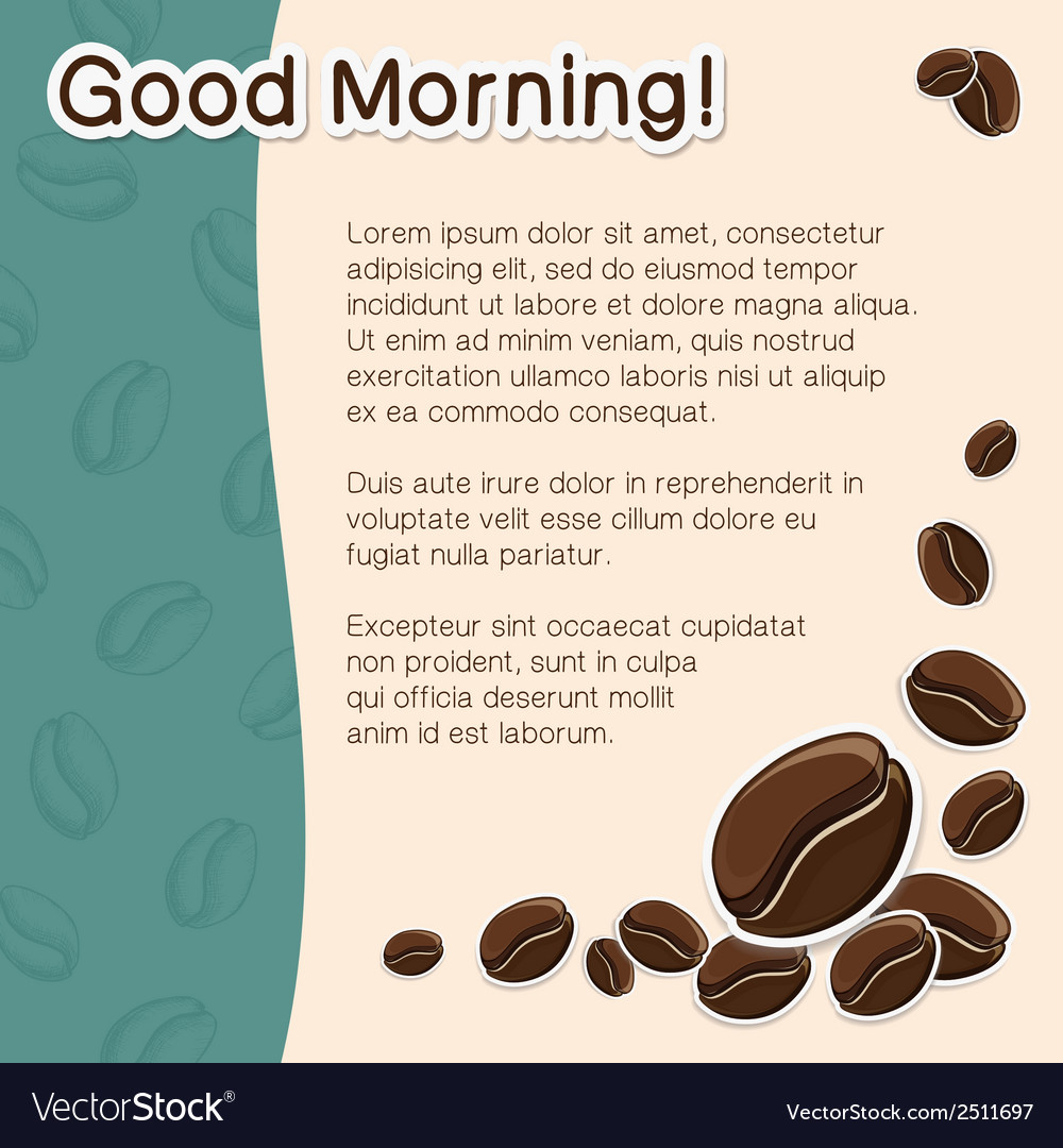 Coffee concept background vector   Price: 1 Credit (USD $1)