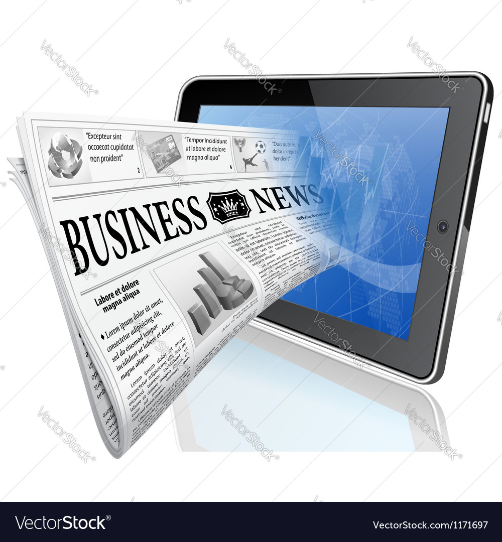 Concept - digital news vector | Price: 3 Credit (USD $3)