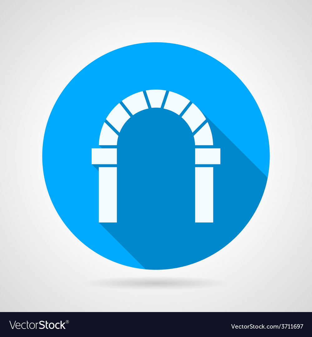 Flat circle icon for round arch vector   Price: 1 Credit (USD $1)