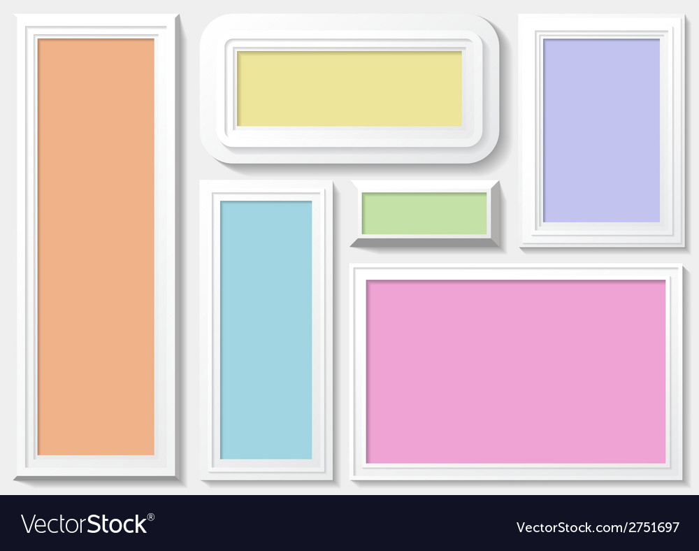 Frames with a colorful background vector