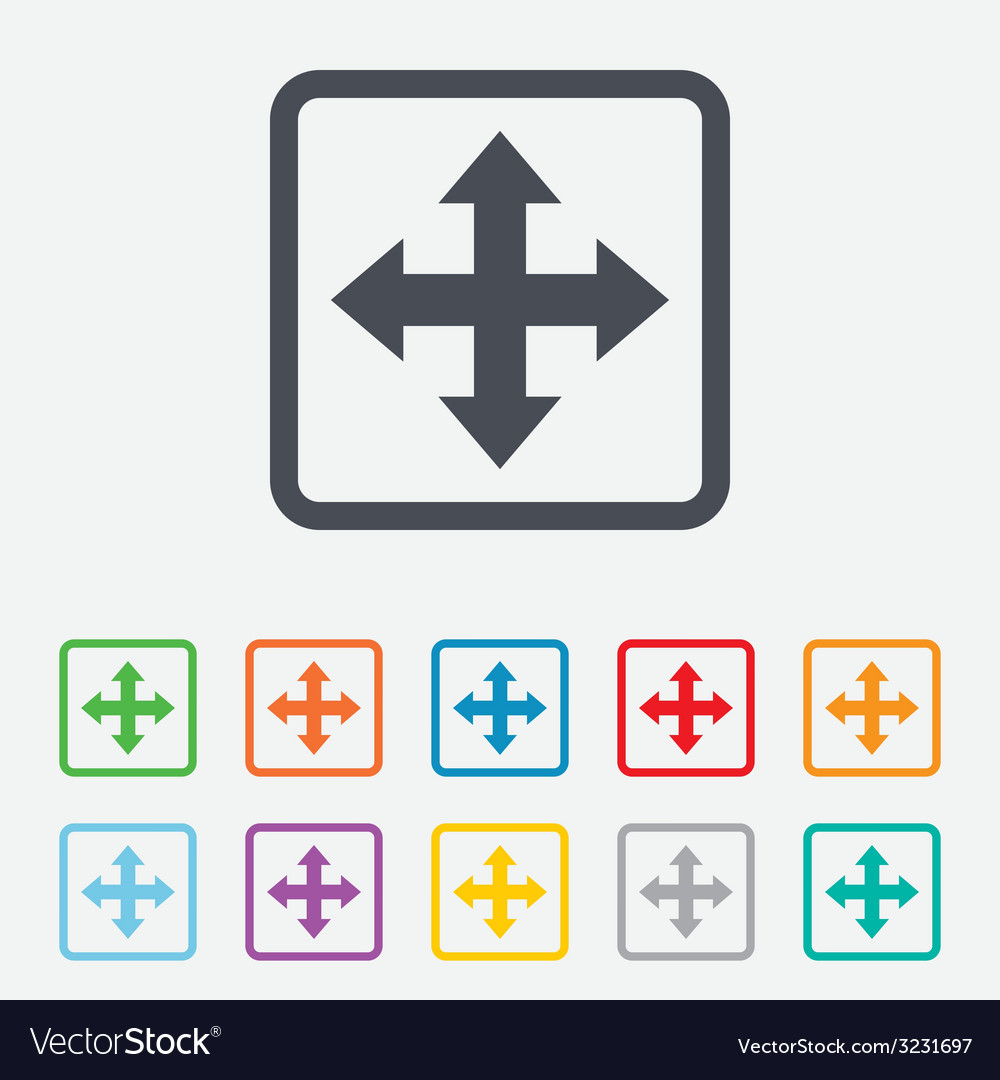 Fullscreen sign icon arrows symbol vector | Price: 1 Credit (USD $1)