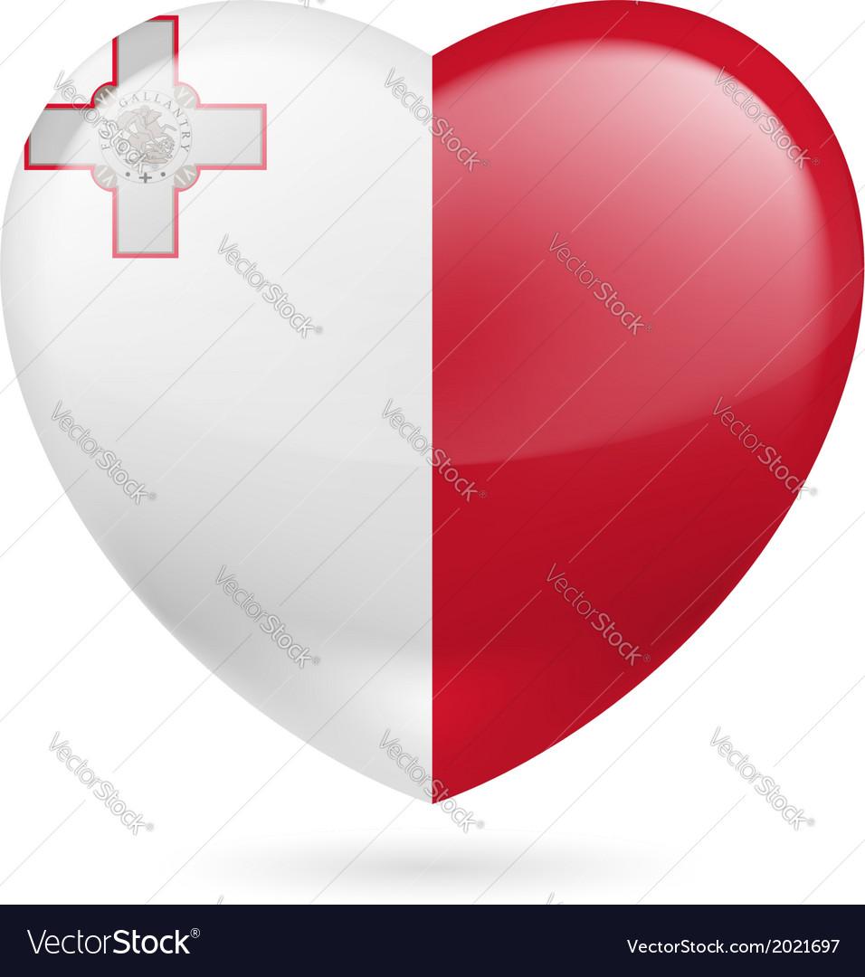 Heart icon of malta vector   Price: 1 Credit (USD $1)