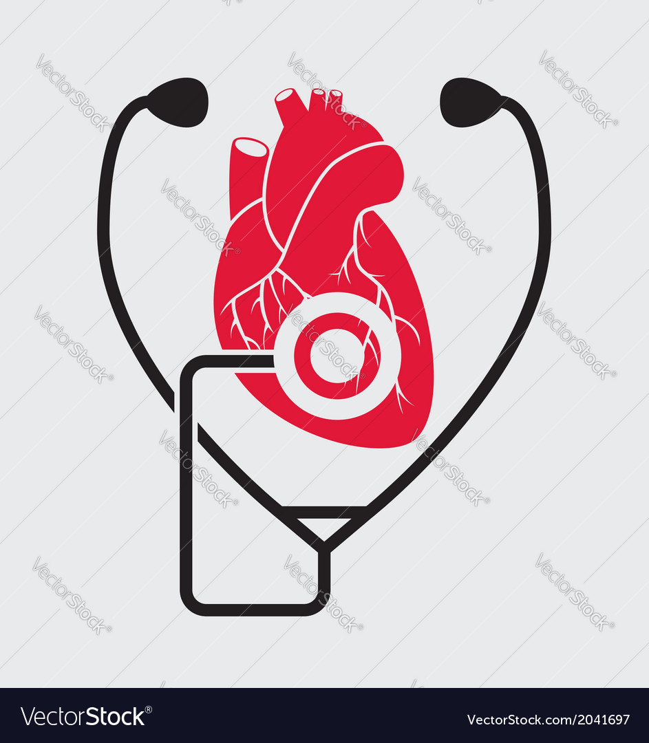 Medical check of heart health vector | Price: 1 Credit (USD $1)
