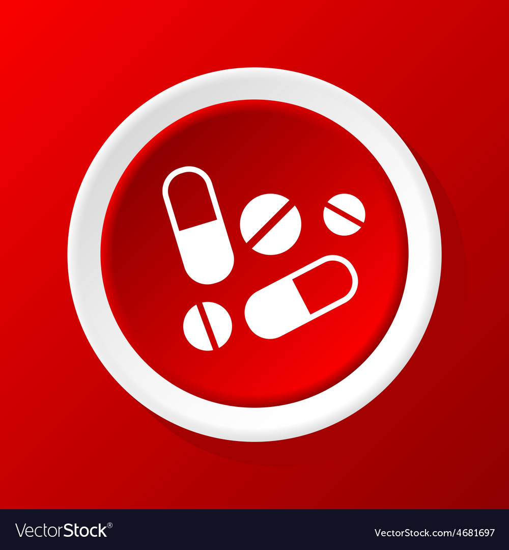 Medicine icon on red vector | Price: 1 Credit (USD $1)
