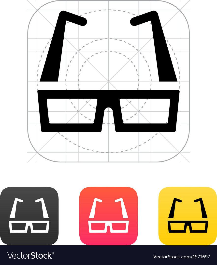 Modern glasses icon vector | Price: 1 Credit (USD $1)