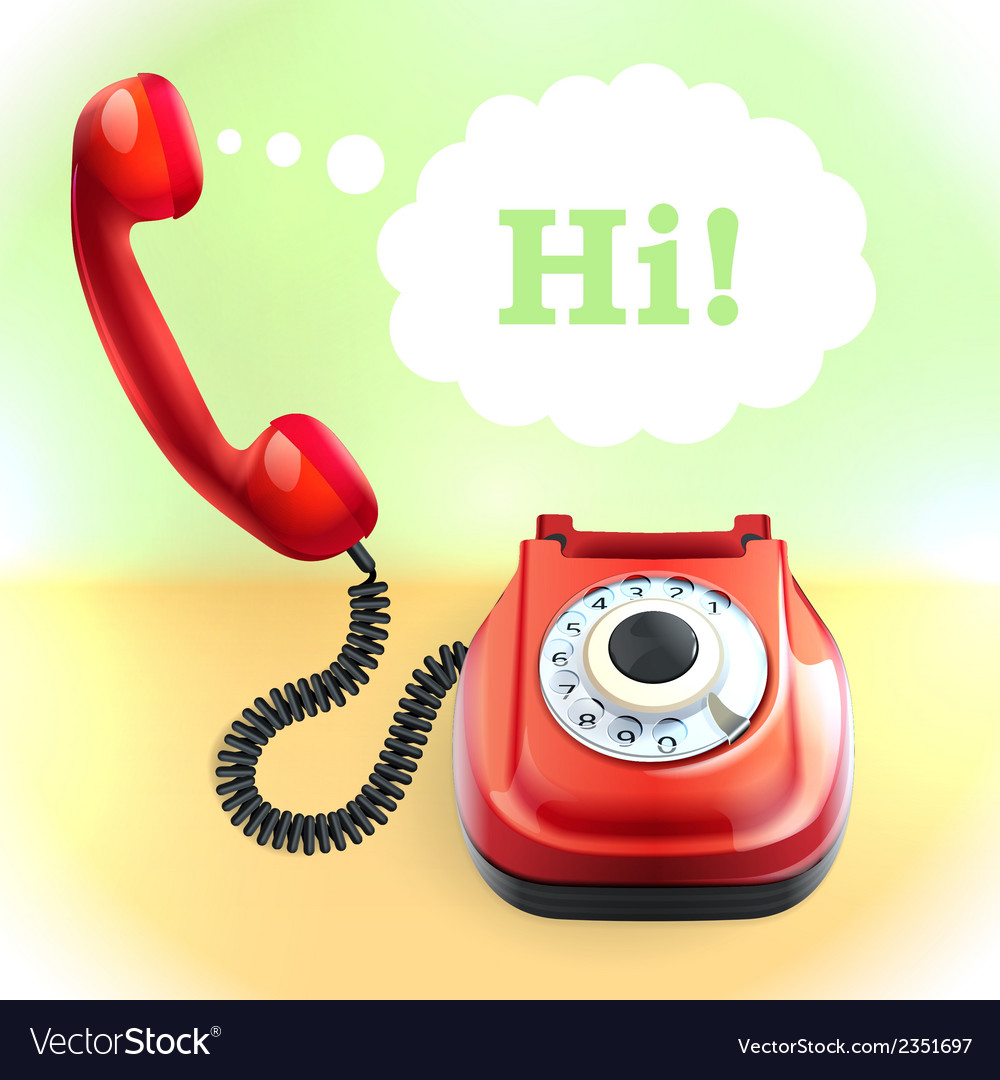 Retro style telephone background vector | Price: 1 Credit (USD $1)