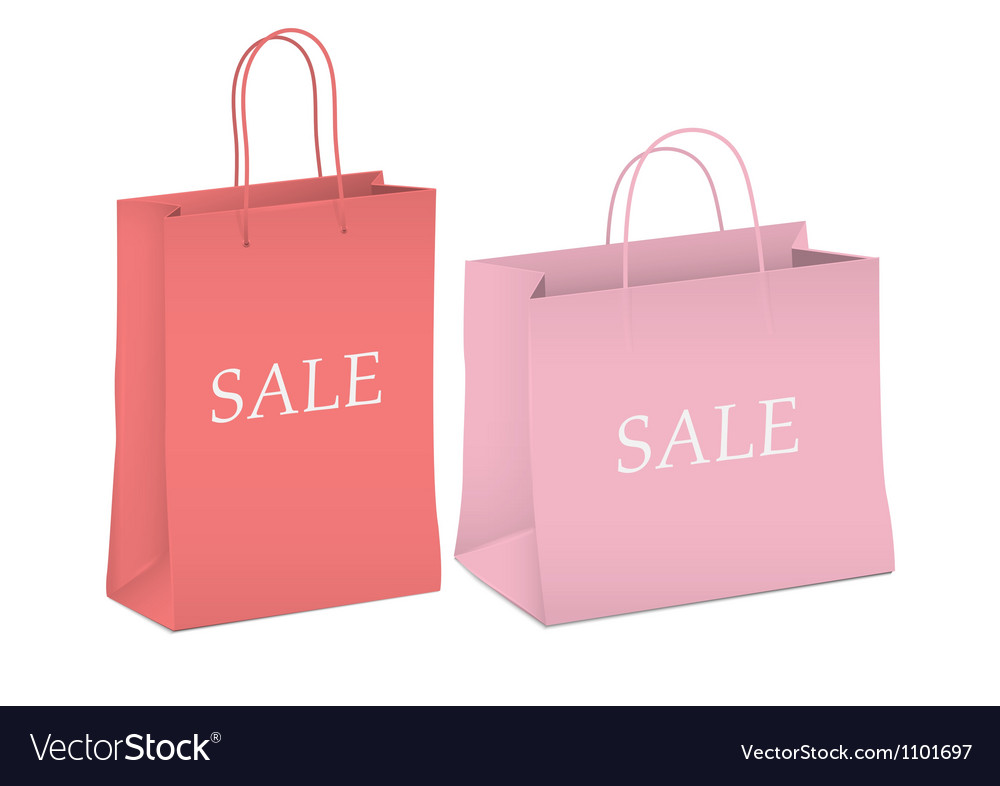 Seasonal sale two shopping bags vector | Price: 1 Credit (USD $1)
