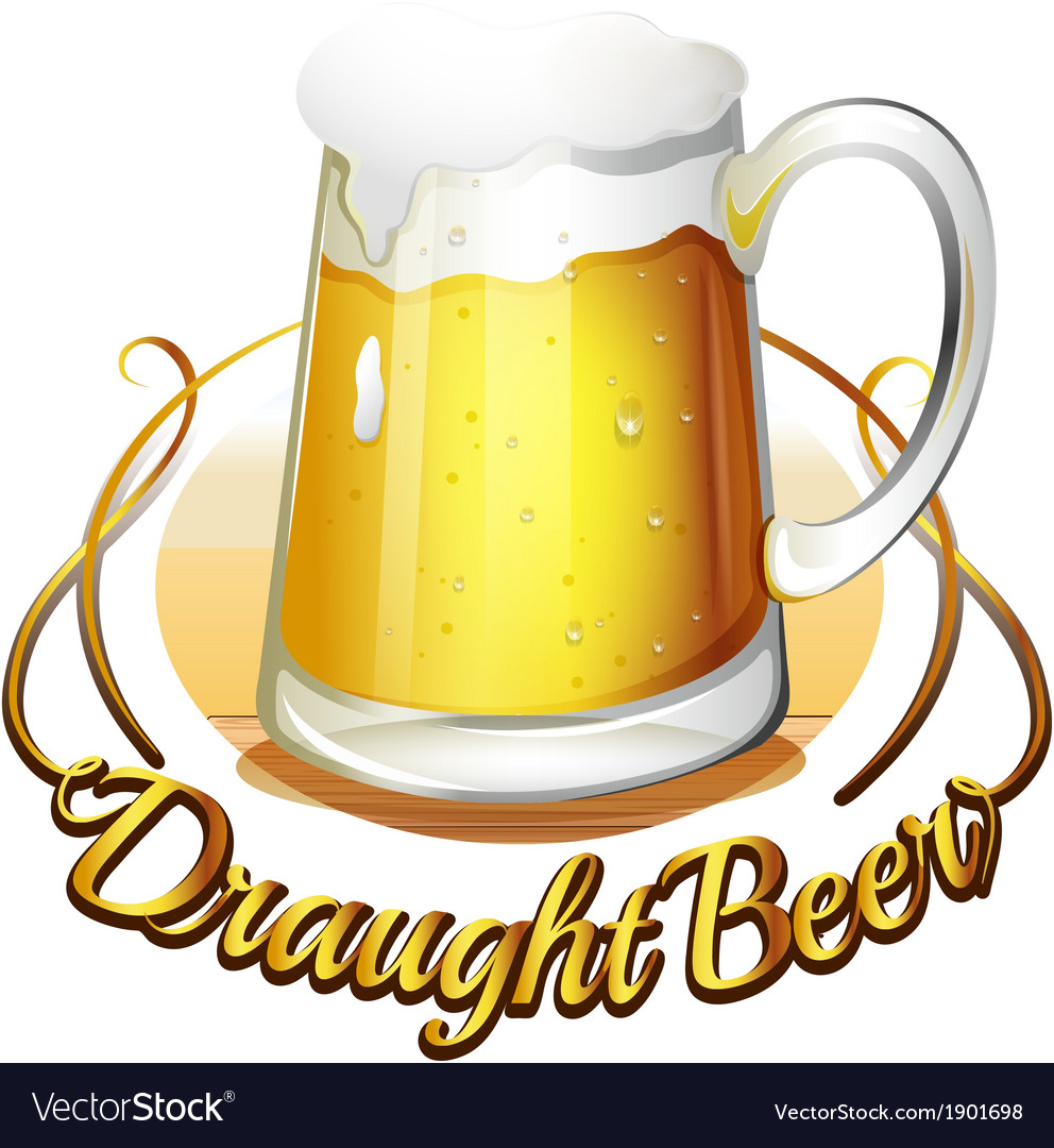 A draught beer label vector | Price: 1 Credit (USD $1)