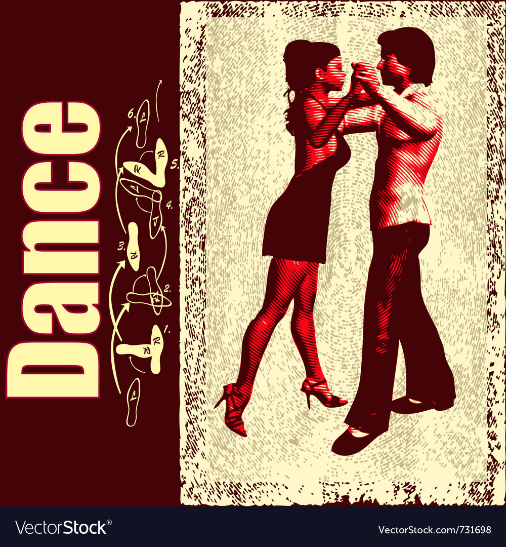 Ballroom dance background vector | Price: 1 Credit (USD $1)