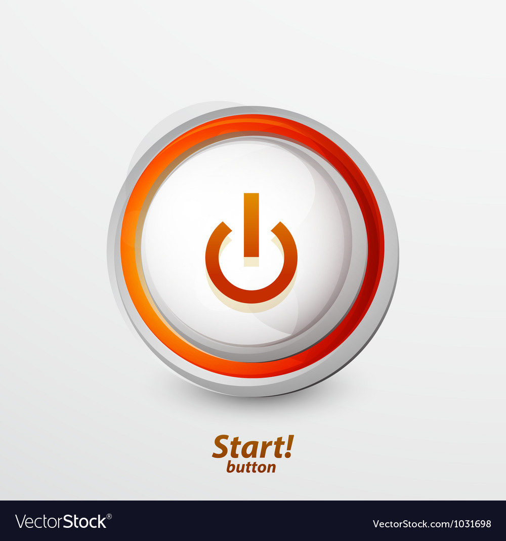 Bright power button vector | Price: 1 Credit (USD $1)