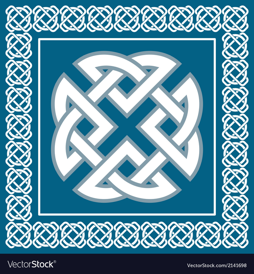 Celtic knotsymbol represents four earth elements vector | Price: 1 Credit (USD $1)