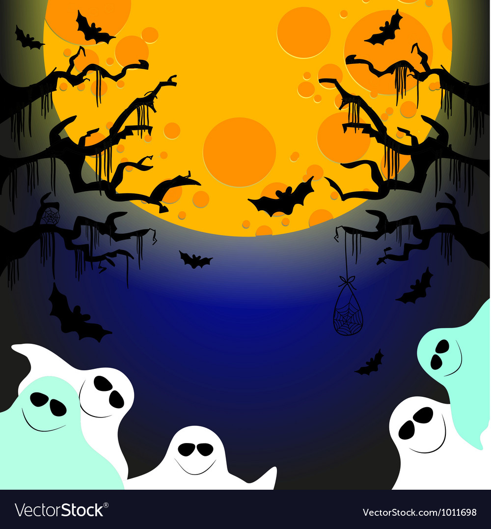 Five friendly ghosts vector | Price: 1 Credit (USD $1)