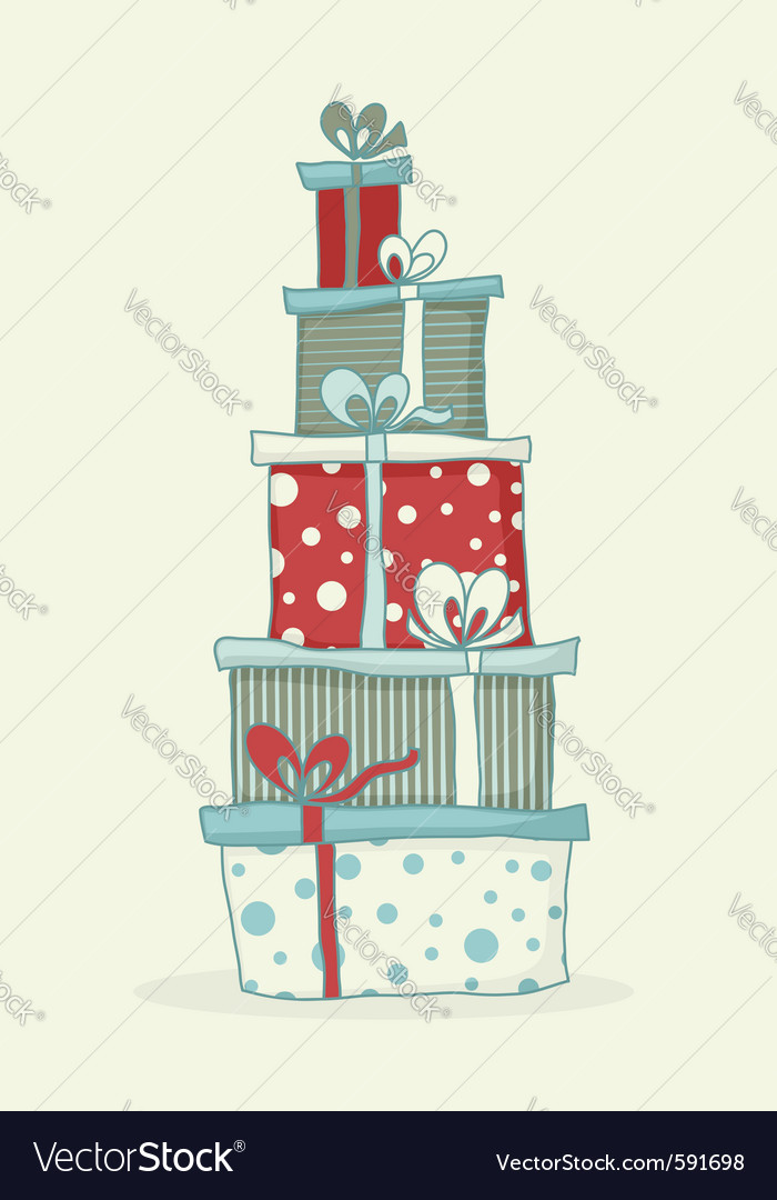 Gift box tower vector | Price: 1 Credit (USD $1)
