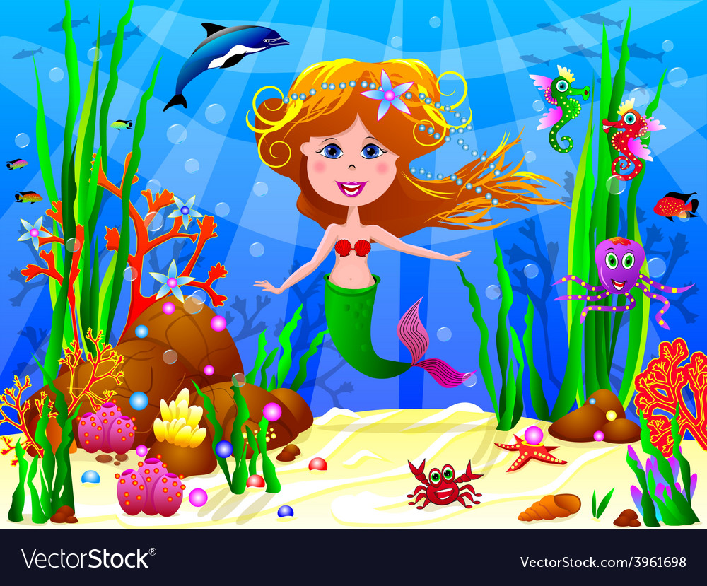 The little mermaid vector | Price: 3 Credit (USD $3)