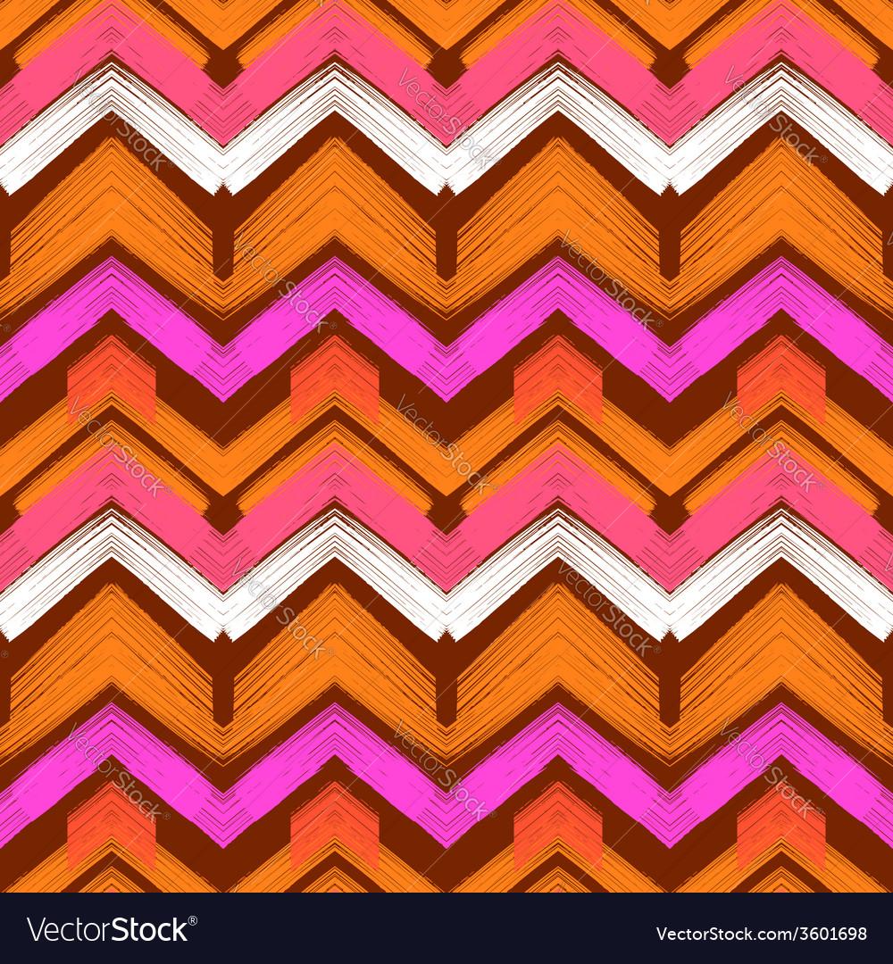 Multicolor hand drawn pattern zigzag vector | Price: 1 Credit (USD $1)