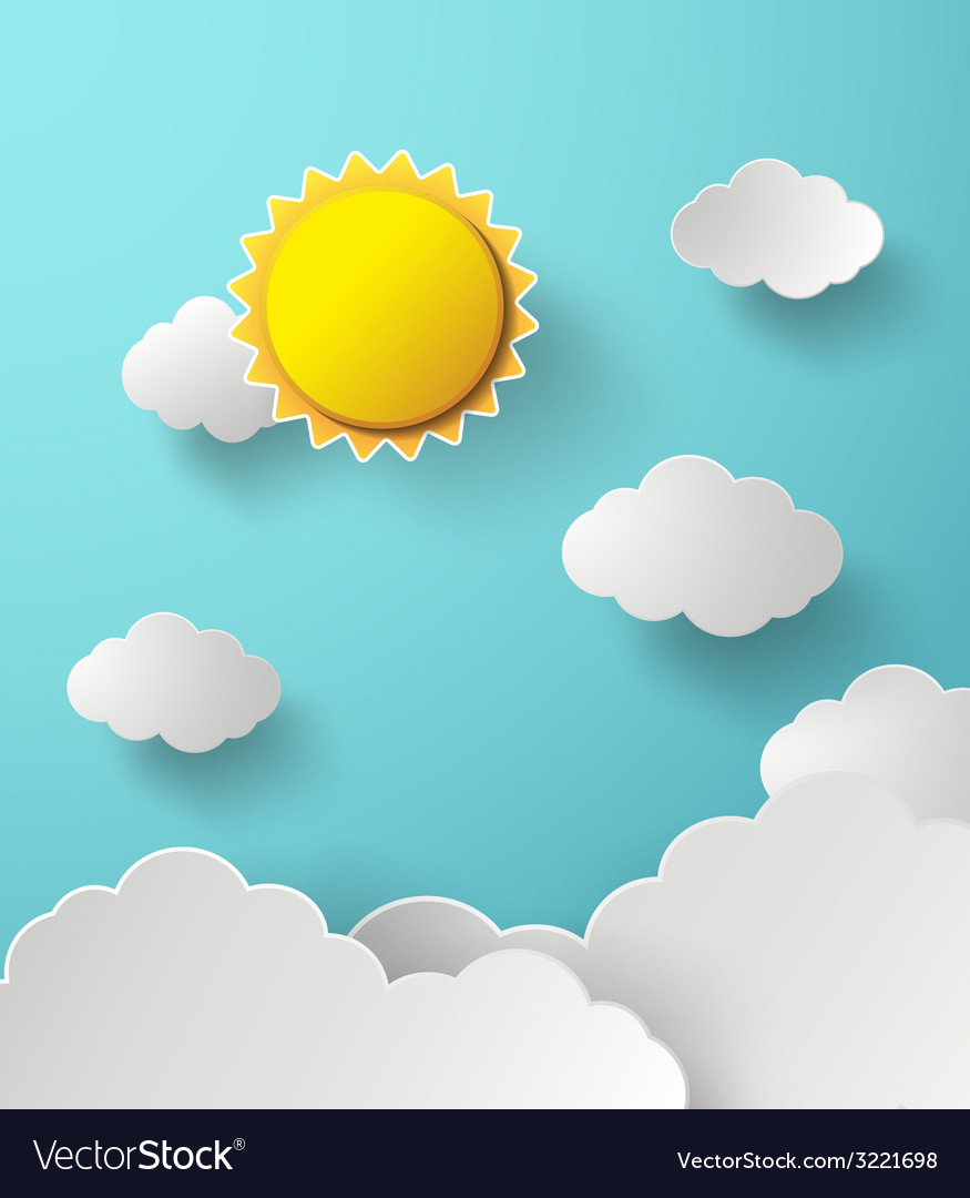 Sun and cloud vector | Price: 1 Credit (USD $1)