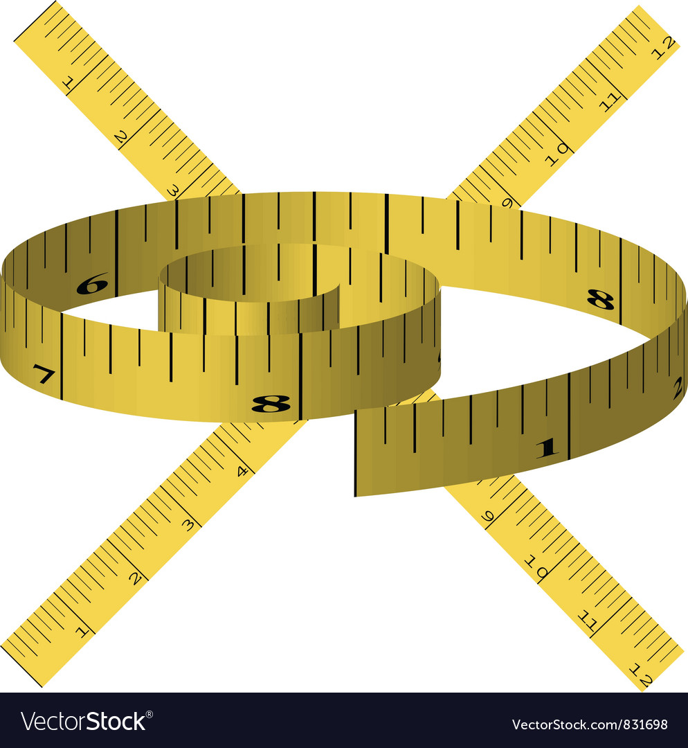 Yellow tape measure vector | Price: 1 Credit (USD $1)