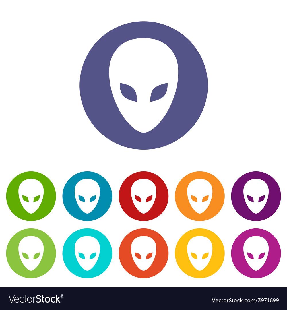 Aliens flat icon vector | Price: 1 Credit (USD $1)