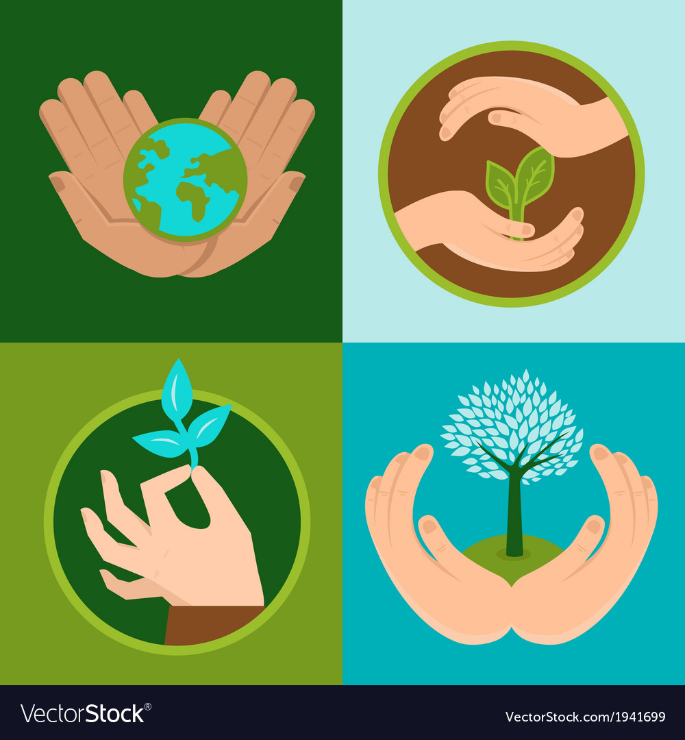 Ecology signs vector | Price: 1 Credit (USD $1)