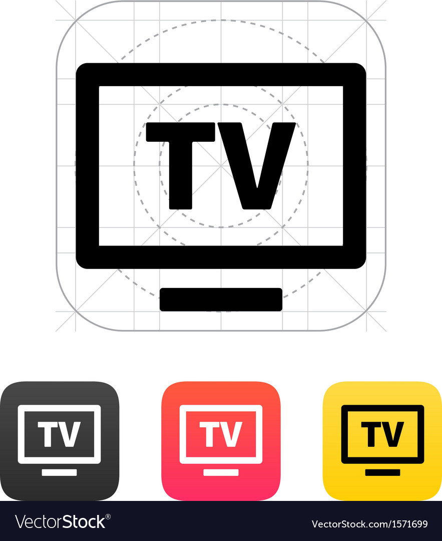 Flatscreen tv icon vector | Price: 1 Credit (USD $1)