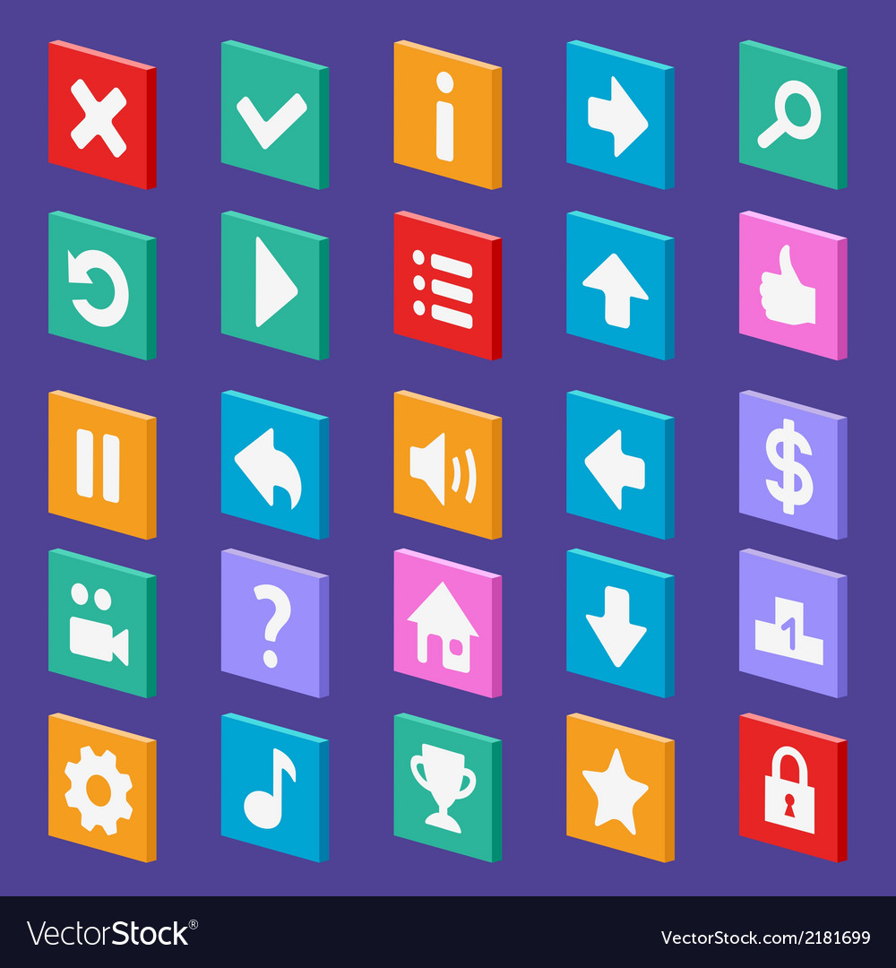 Game flat icons vector | Price: 1 Credit (USD $1)