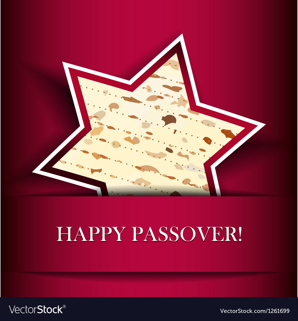 Passover card with matza star of david shape vector | Price: 1 Credit (USD $1)