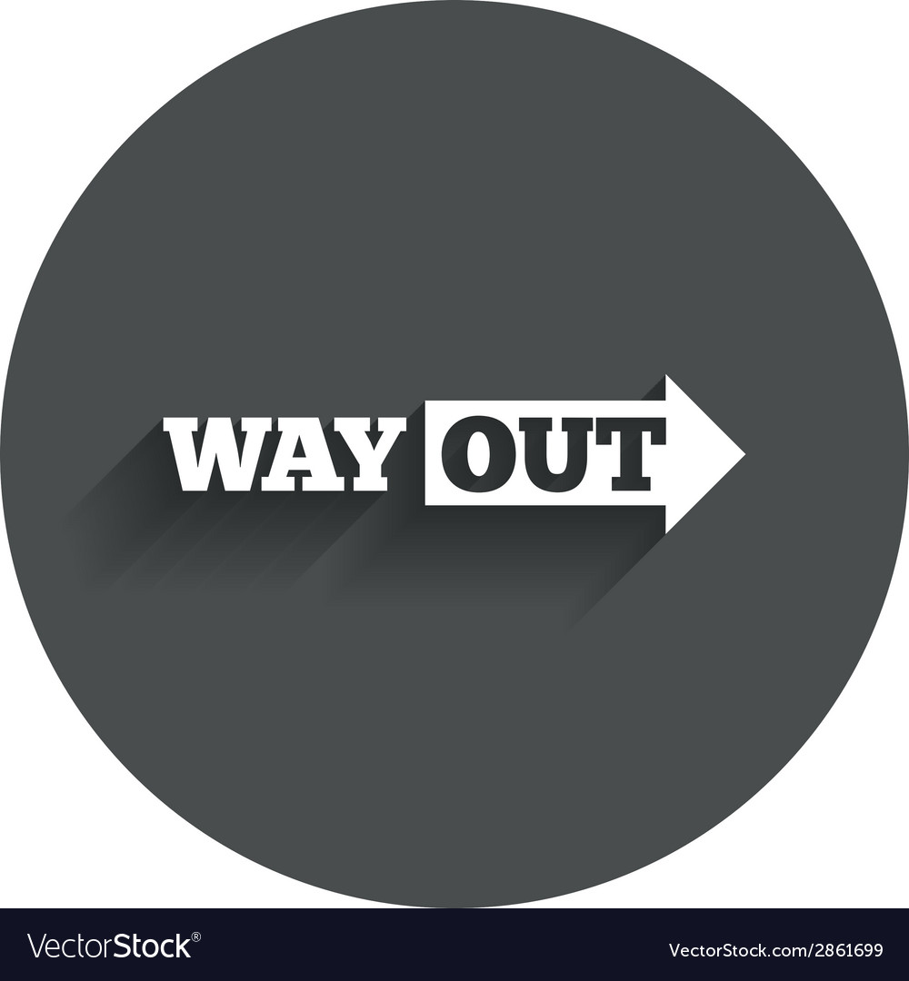 Way out right sign icon arrow symbol vector   Price: 1 Credit (USD $1)