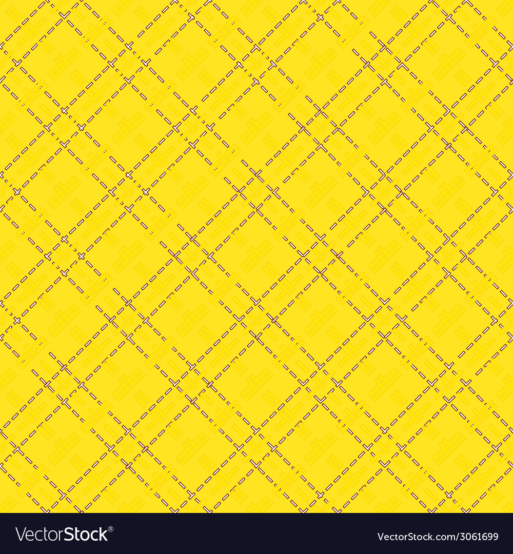 Yellow seamless mesh pattern vector | Price: 1 Credit (USD $1)