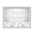 Empty gallery wall with frame vector