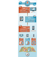 Flat objects infographic vector