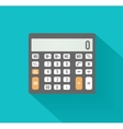 Calculator icon business concept with mathematics vector