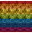 Seamless knitted hand drawn background bright vector