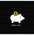 Pig a coin box vector